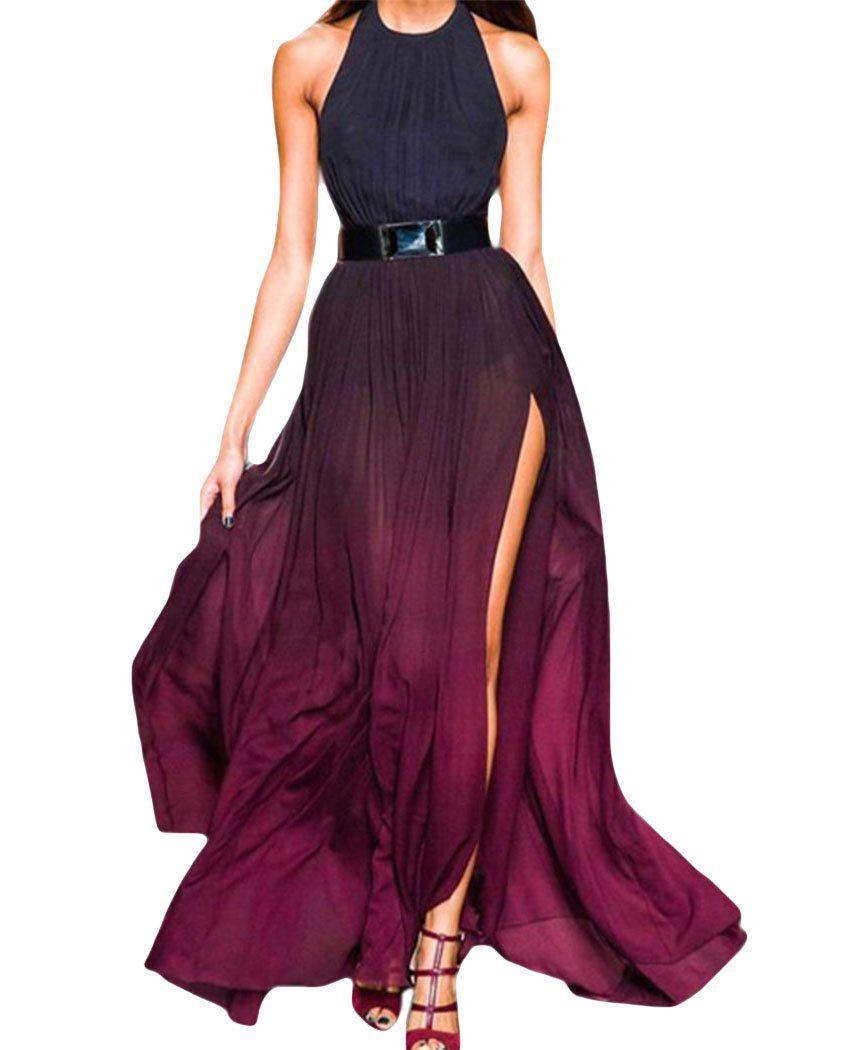 Wine ombre dress stylinu pinterest bohemian