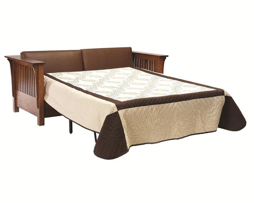 Awe Inspiring Amish Mission Prairie Sofa Bed Studio Sofa Bed Sleeper Inzonedesignstudio Interior Chair Design Inzonedesignstudiocom