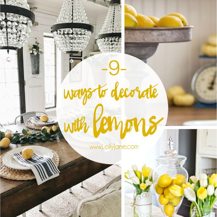 9 Lemon Home Decor Ideas Lemon Decor Lemon Kitchen Decor