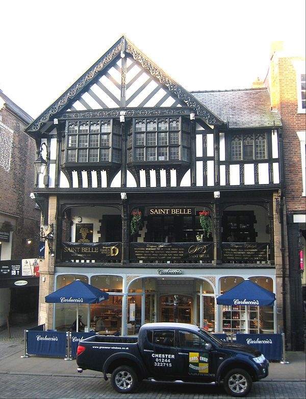 38 Bridge Street is a commercial property in Chester, Cheshire, England.  It is designated by English Heritage as a Grade II listed building. The building was constructed in 1897 and was designed by the local architects Douglas and Fordham. It is the only new building designed by Douglas to inc...