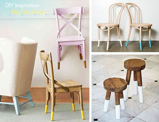 Dip Chairs Is An Easy Diy Project To Bring Fresh Style To Your Home Decor Picture Tutorial For An Easy Furniture Makeover Diy Diy Furniture Furniture Makeover