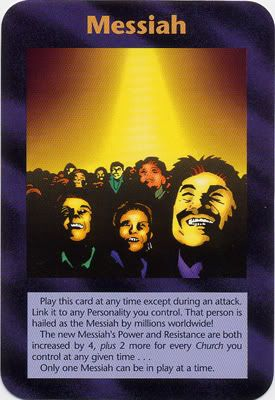 Illuminati Card Game only Published in 1995 - MESSIAH