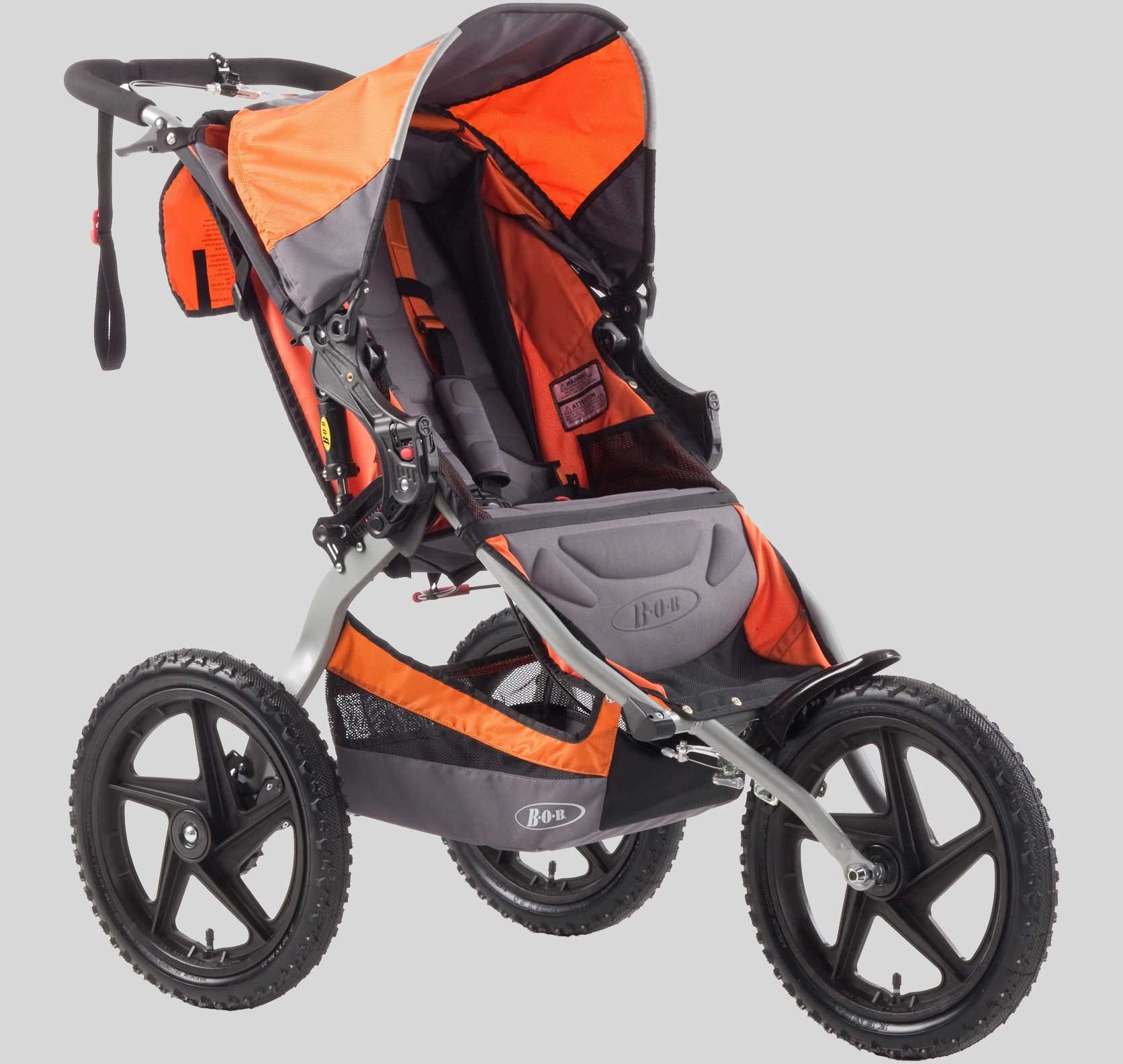 BOB Sport Utility Stroller Orange Running with stroller