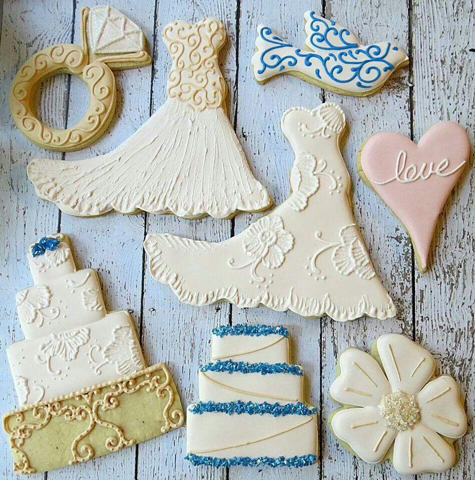 Wedding Cookies | Cookies | Pinterest | Wedding cake cupcakes, Sugar ...