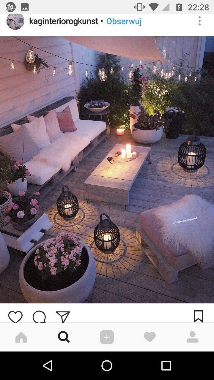 Photo of Schöne romantische Terrasse – Dekorationsideen