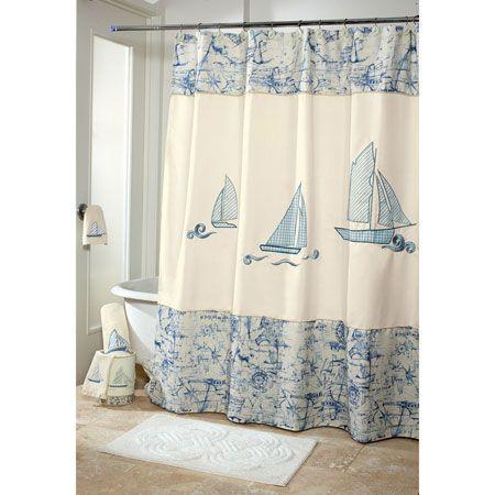 Dise os marinos para bordar en cortina de ba o buscar for Cortinas para banos rusticos
