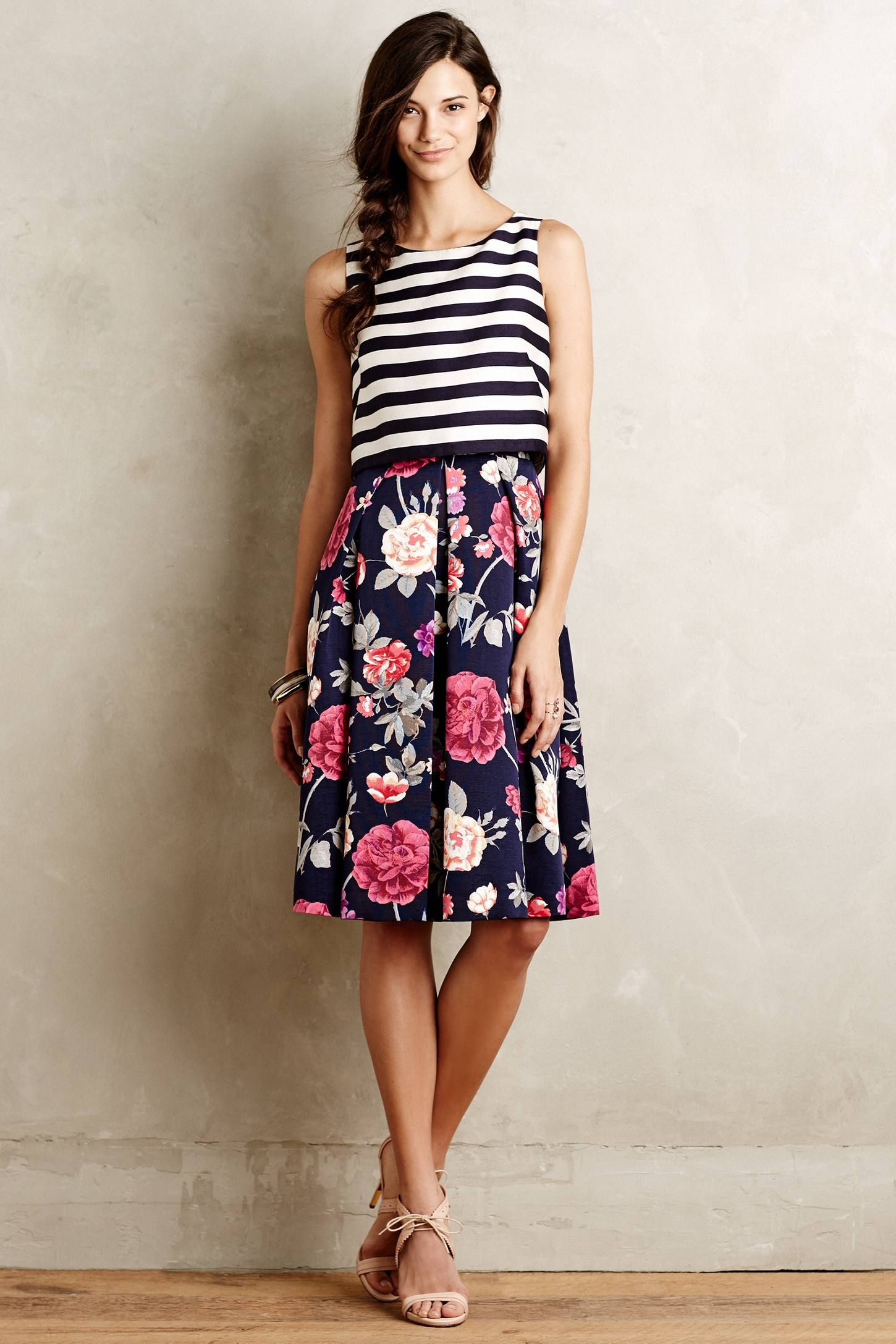 I like the combination of prints, and shapes Split-Print Dress - anthropologie.com