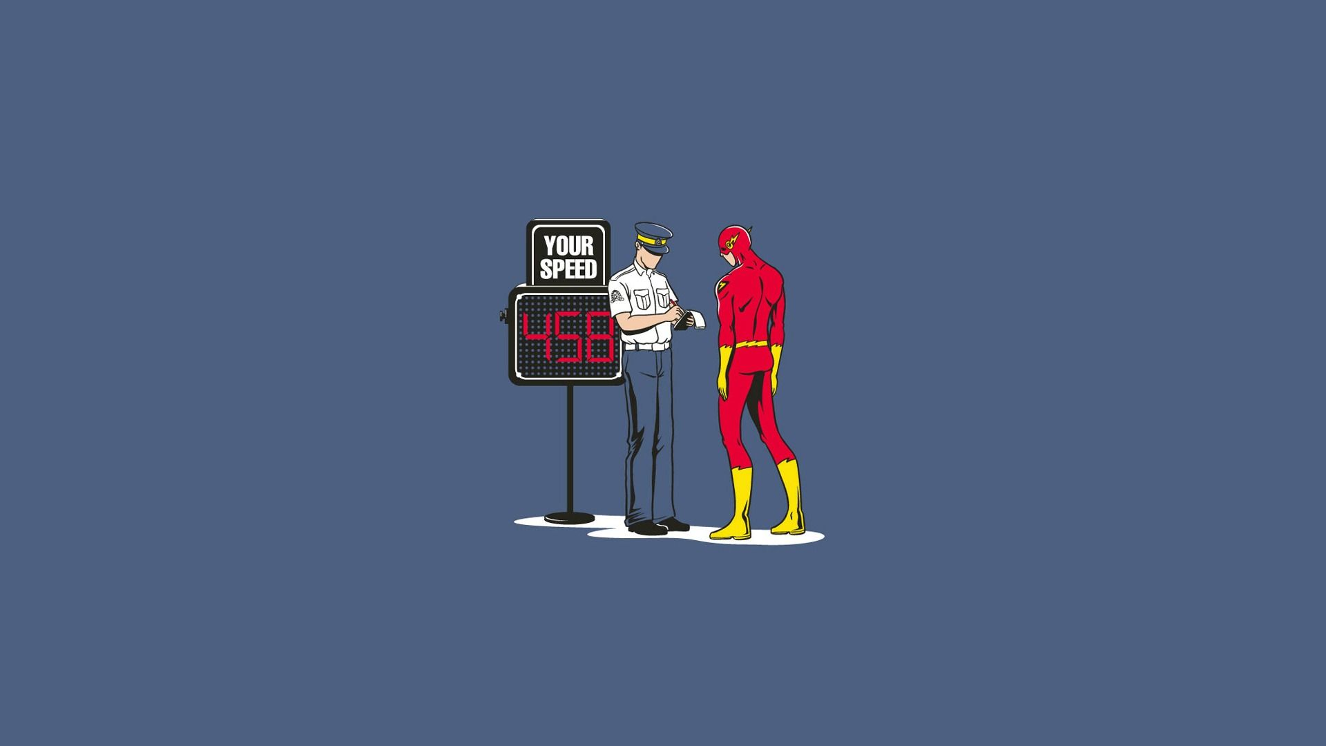 Wallpaper Dc Comics Humor Character Comic The Flash Police Officer Super Hero The Speed Penalty Dc Comics Wallpaper Flash Wallpaper Wallpaper Pc