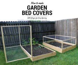 How to Make a Raised Garden Bed Cover With Hinges -   22 enclosed garden beds ideas