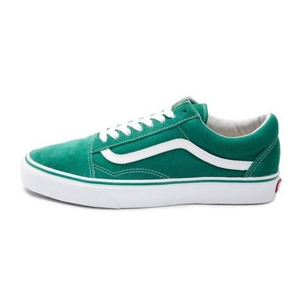 0e914d7a00 New Vans Old Skool Skate Shoe Ultramarine Green Suede Canvas Womens...  (€89) ❤ liked on Polyvore featuring shoes