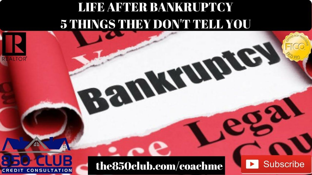 Life After Bankruptcy 5 Things They Don T Tell You Budget Myfico No Credit Car Buying Youtube Bankruptcy Told You So Car Buying