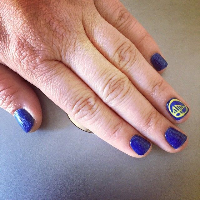 Nail Art Lounge: Nail Art Golden State Warriors By Cosmo Spa Lounge