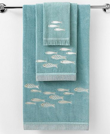 Cute Fish Towels Might Suit Our Blue Green Bathroom Fish Towel