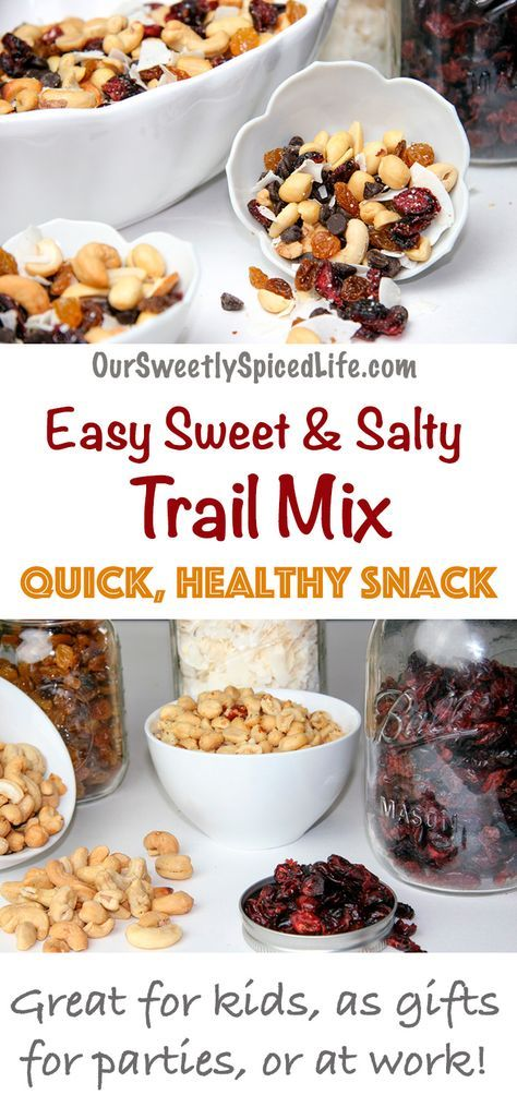 Easy Sweet and Salty Trail Mix