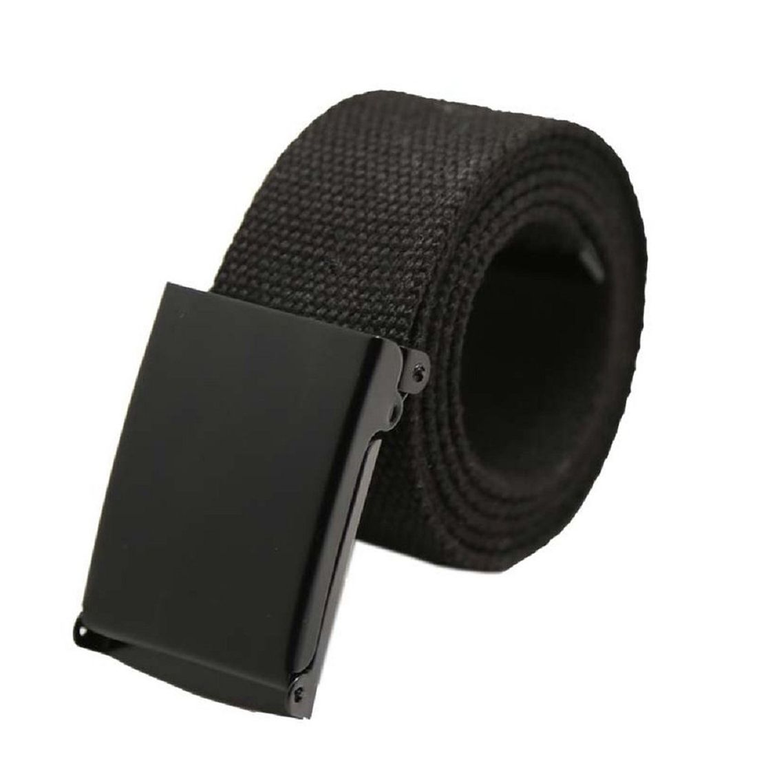 Click to Buy    Unisex Canvas Strap Canvas Belt with Buckle (black ... 77b6feffddaf