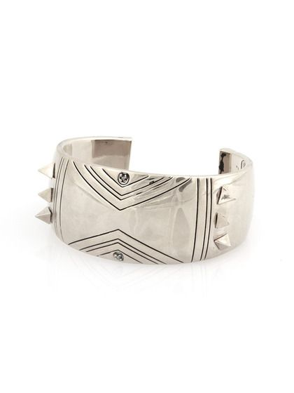 Silver Etched Spike Cuff by House of Harlow 1960 on Gilt.com
