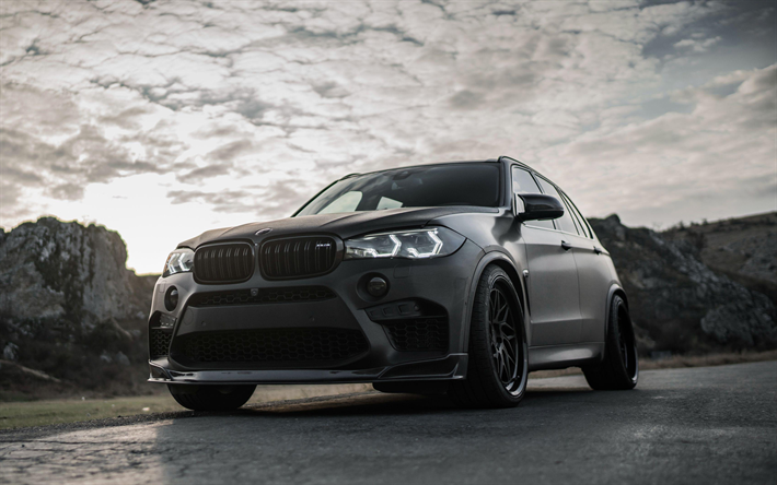 Download Wallpapers BMW X5 M 2018 Z Performance Black SUV
