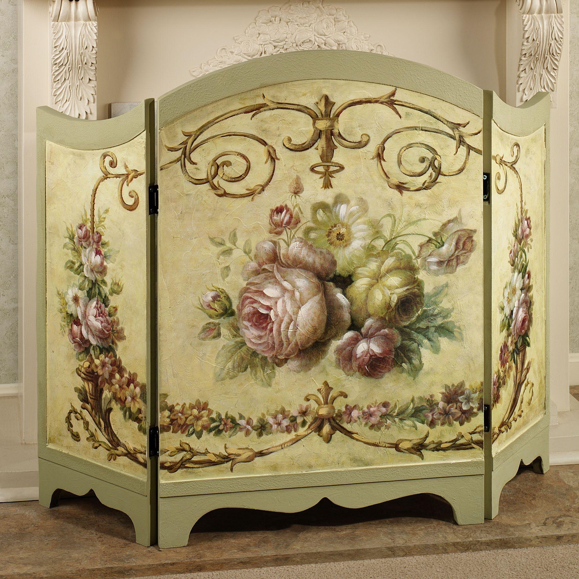 victorian rose decorative fireplace screen lovely lounge rh pinterest com