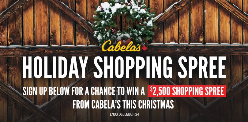 Enter to win a 2500 shopping spree from cabelas