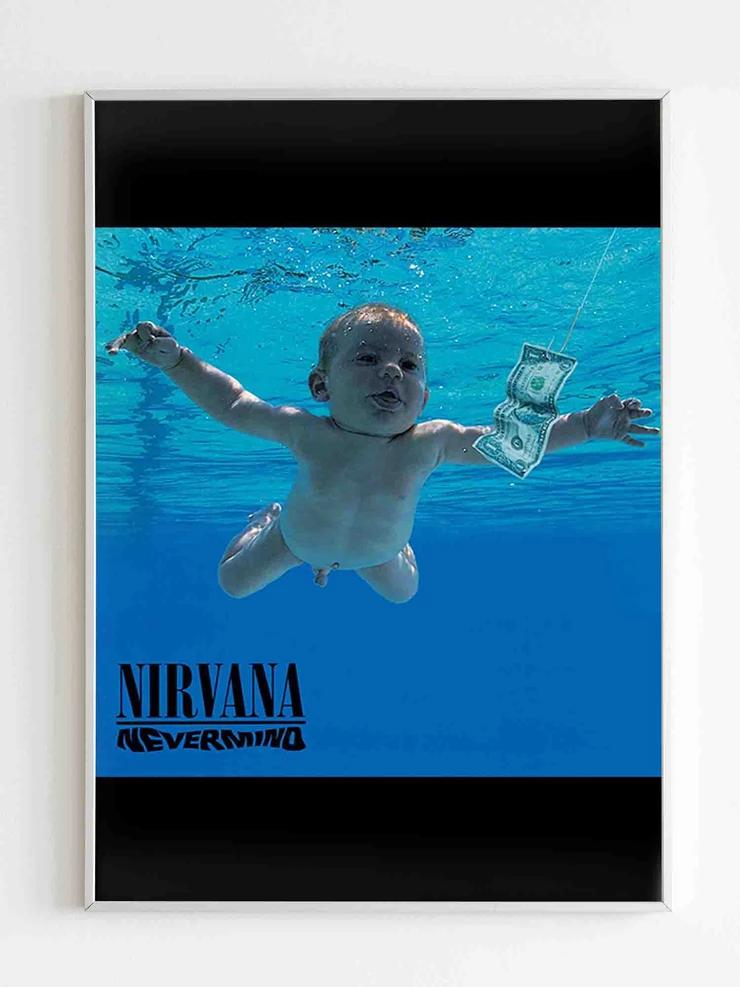 Nirvana Nevermind Album Kurt Cobain Rock Band Poster Rock Band Posters Band Posters Nirvana Nevermind