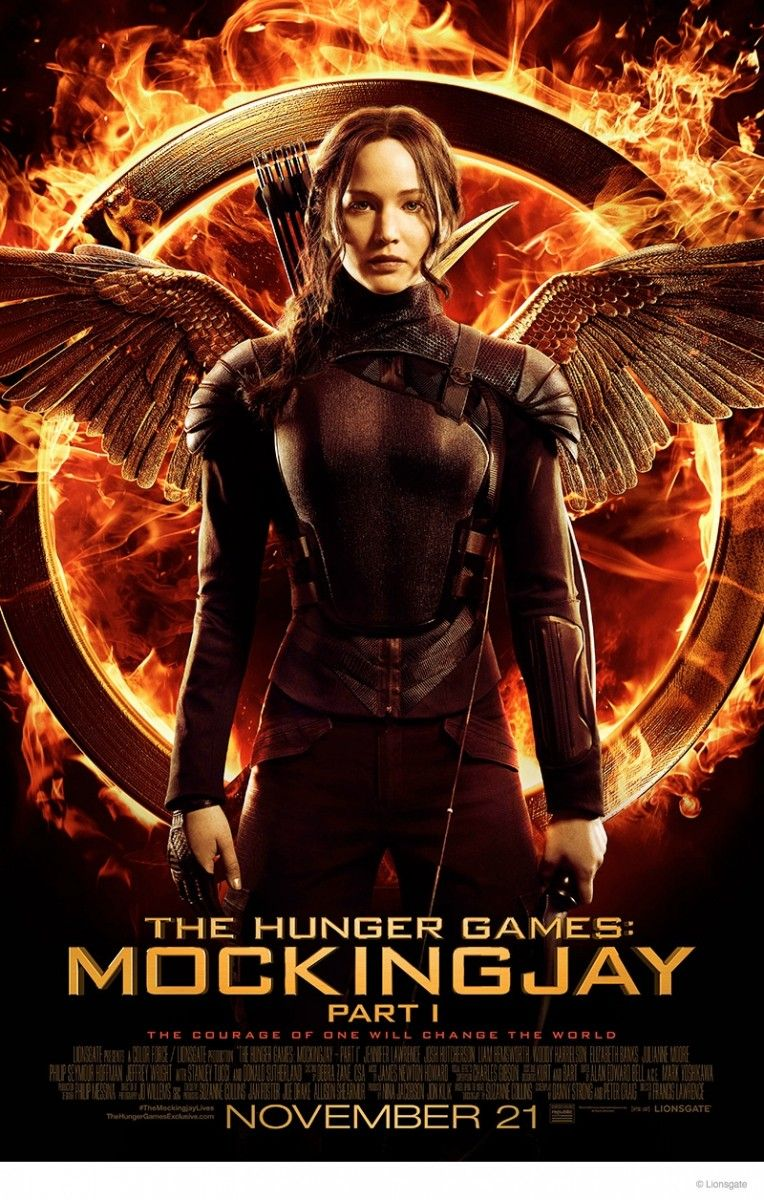 "Jennifer Lawrence is Ready for Battle in ""The Hunger Games: Mockingjay"" Poster"