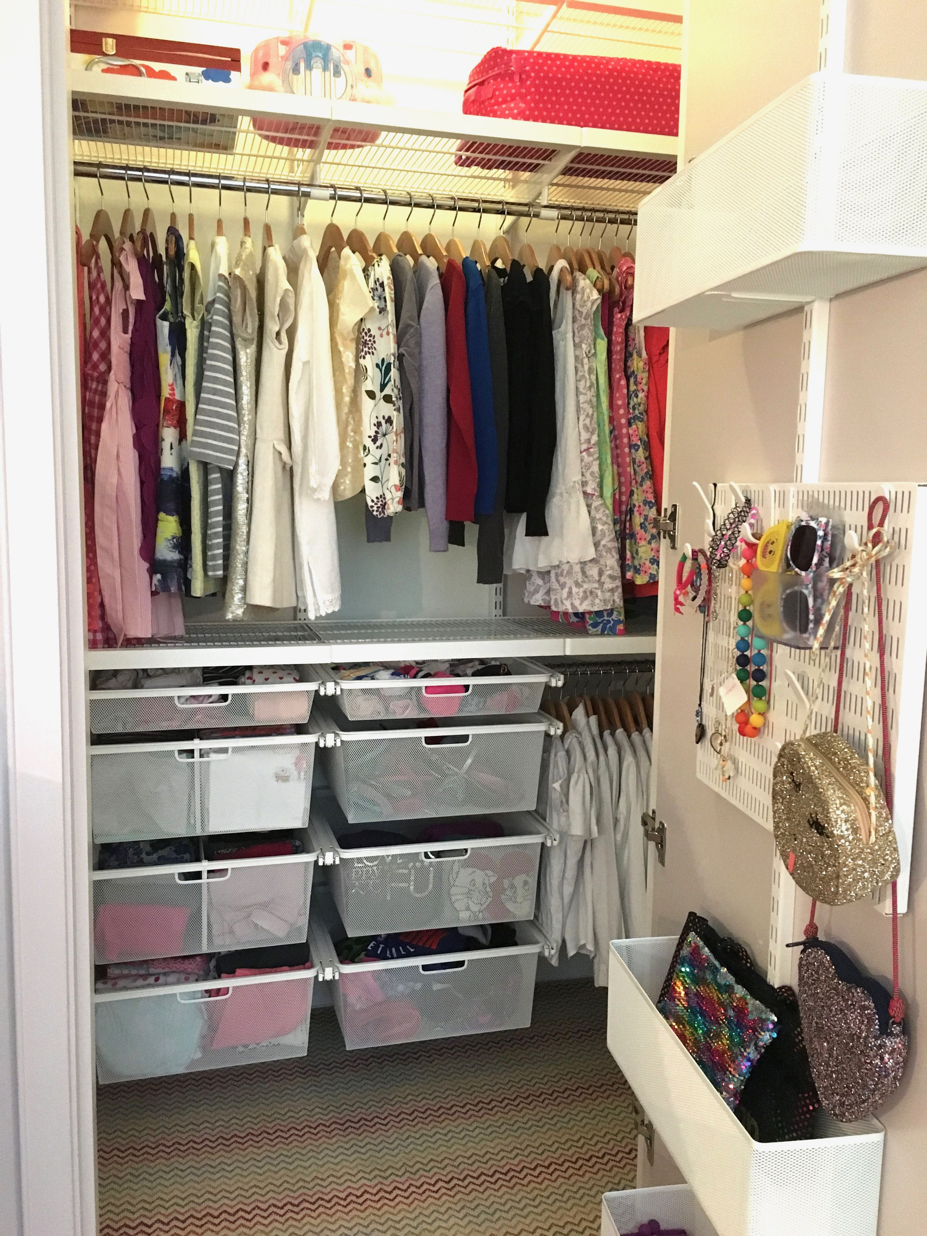 Little Girl S Elfa Closet Designed Organized And Styled By