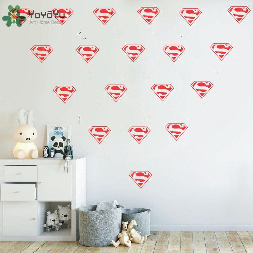 Superhero Diamond Logo Wall Decal Removable Kids Nursery ...
