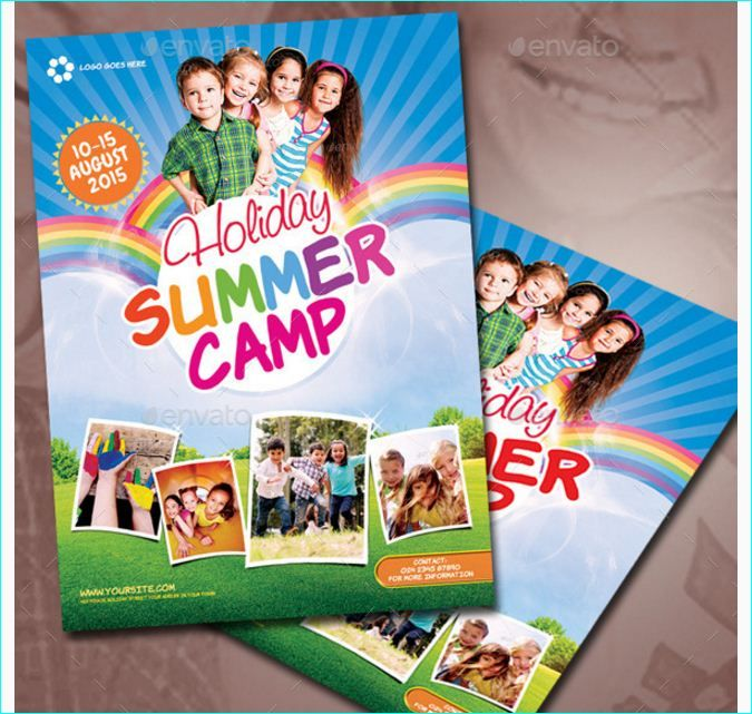 Kids Summer Camp Flyers Template By Party Flyers On