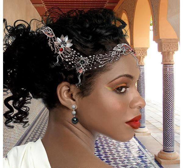 Rustic Wedding Updo Beautiful African American Wedding Hair
