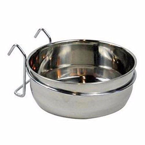 Stainless Steel Cage Coop Cup Bird Cat Dog Puppy Crate Food Water