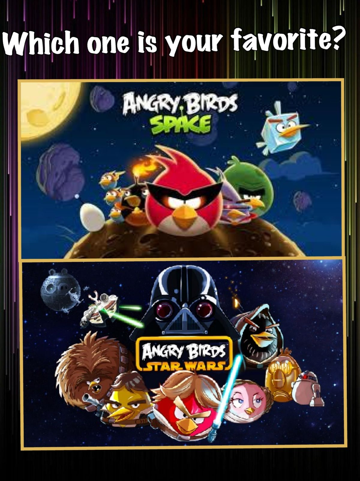 Angry birds space or angry birds star wars good cool games angry birds space or angry birds star wars voltagebd Images