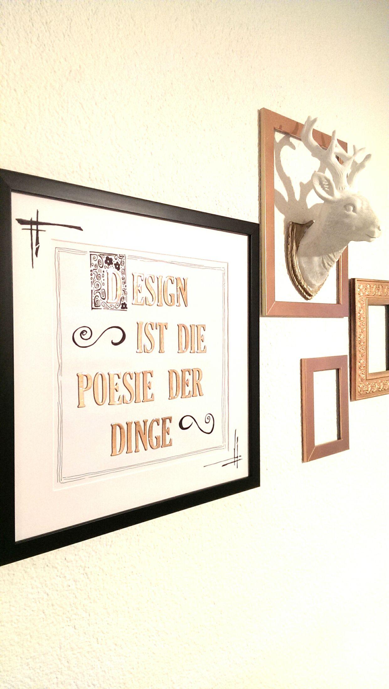 Hübsche Wanddekoration selber machen – DIY BILD IN KUPFER | DIY ...