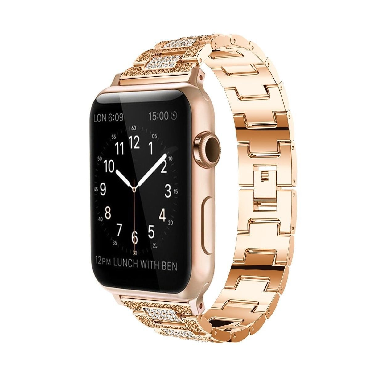 Pin On 42 38 Mm Apple Watch Replacement Stainless Steel Wrist Band Strap Iwatch Rose Gold