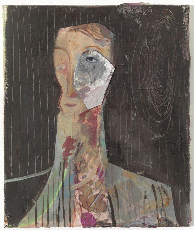 Volker Hueller  - Betty Davis' Eye, 2011,Mixed media on canvas, 60 x 50 cm
