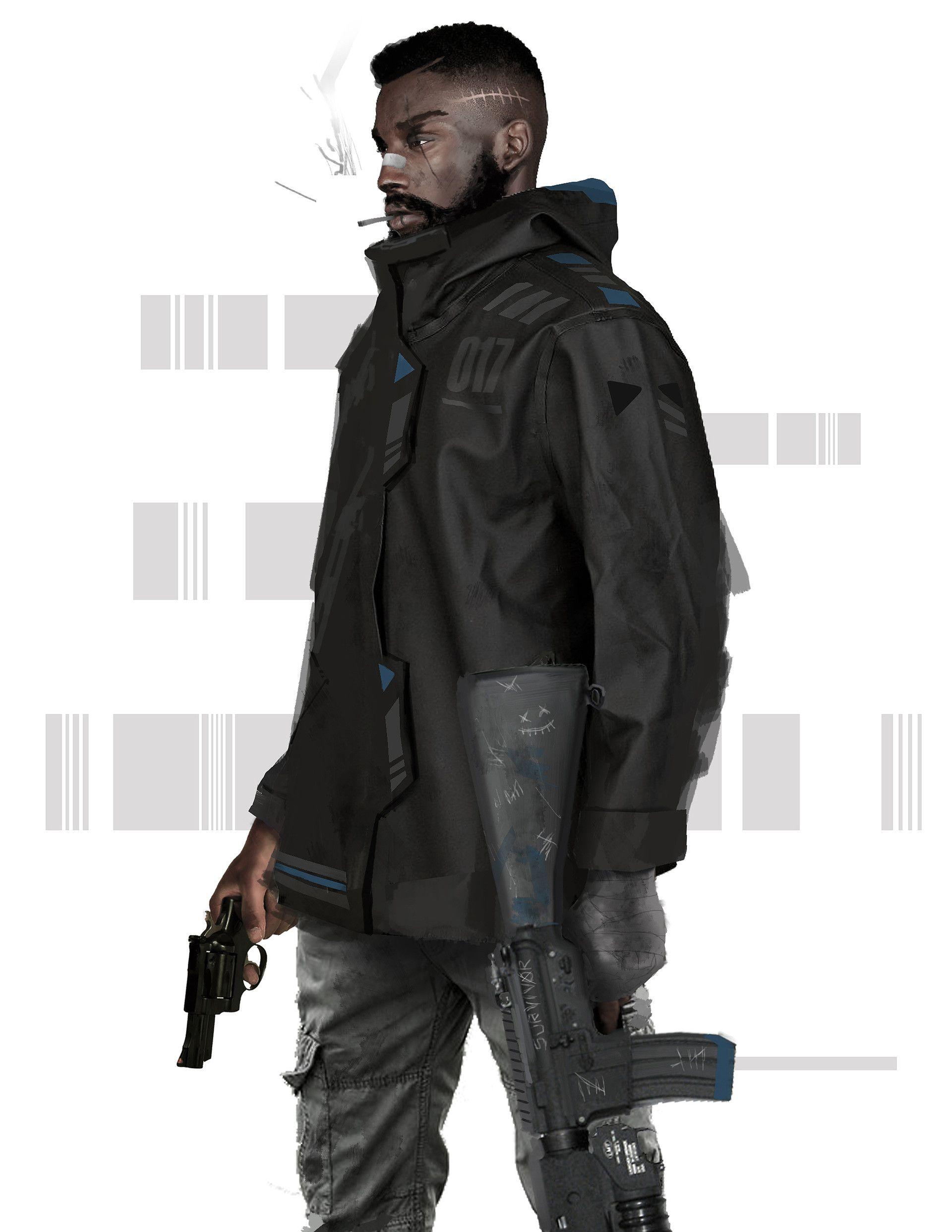 Artstation 13 017 Vo Benson X Ray Sales Cyberpunk Character