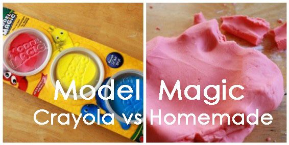 Homemade Model Magic vs Crayola Model Magic