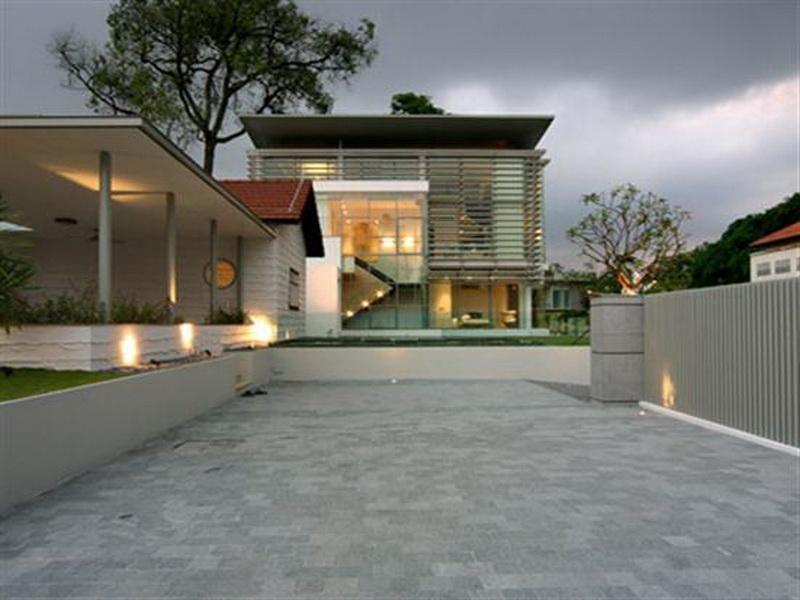 Elegant modern single story house plans