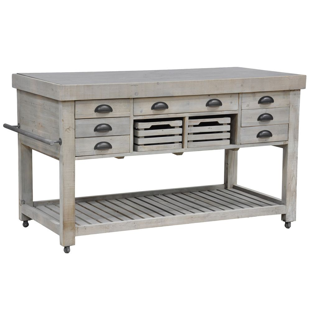 Mobile kitchen island  Deni Kitchen Island  Overstock Shopping  Big Discounts on