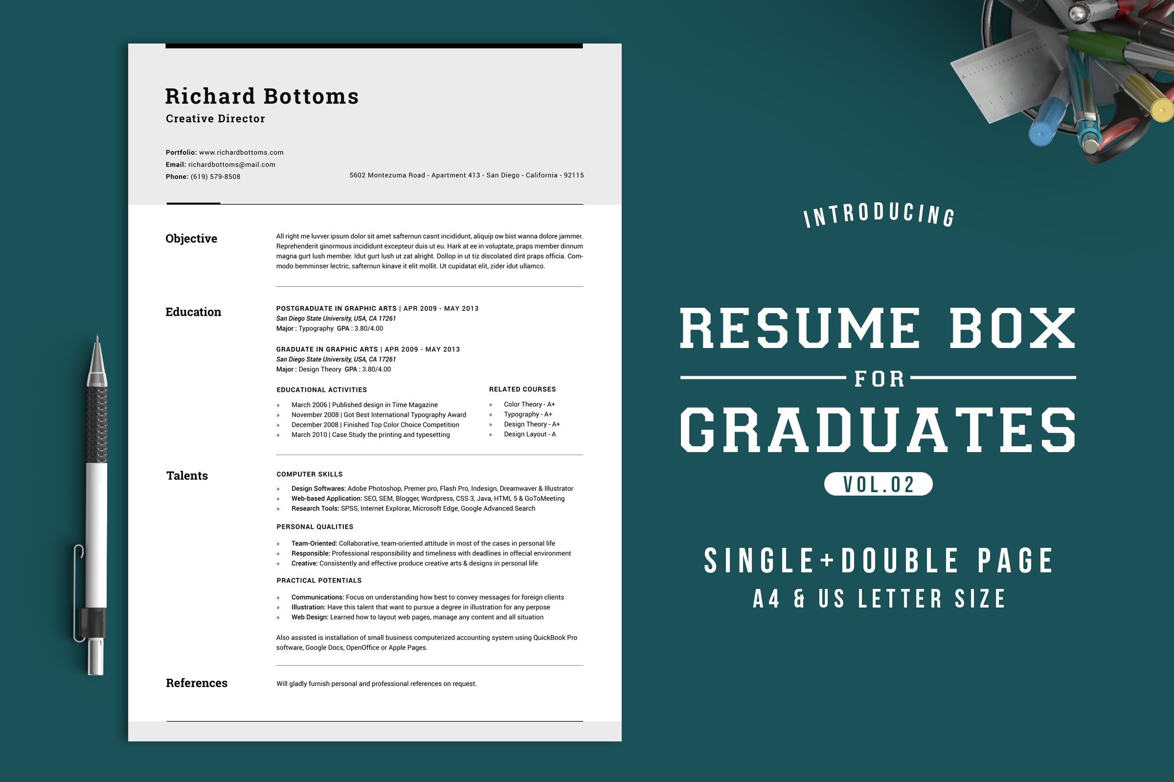 Resume Box for College Graduates V.2   Design packaging