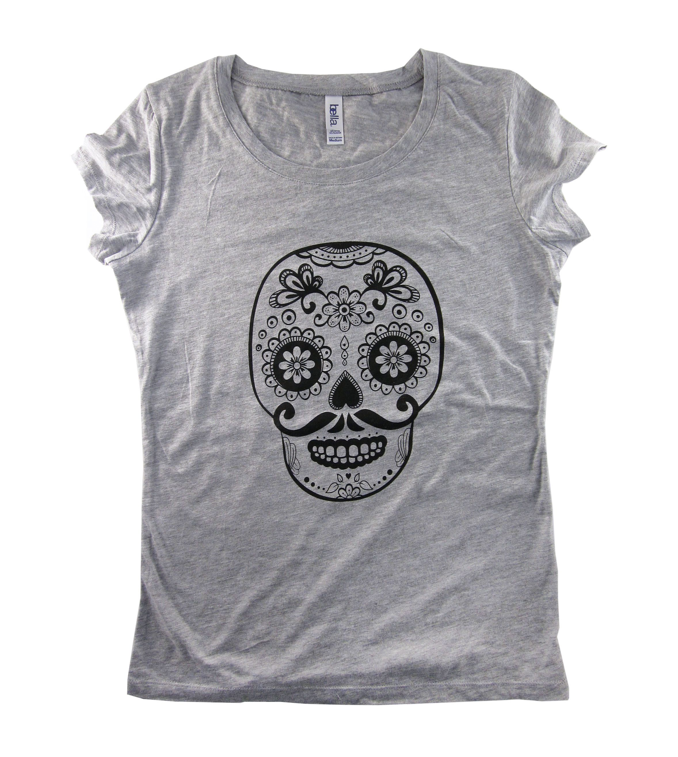 Sugar Skull screen printed t-shirt