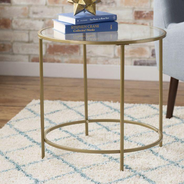 House Of Hampton Alsager End Table Apt Ideas House And Sofa Sofa - Wayfair gold end table