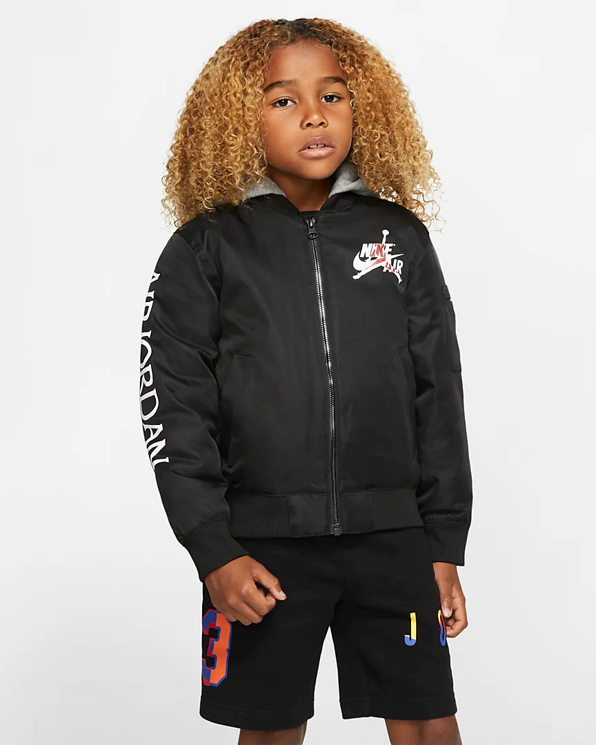 Jordan Jumpman Little Kids' Hooded Bomber Jacket.