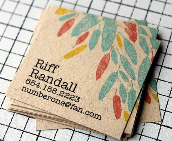 Kraft Brown Recycled Paper Square Business Cards In 2021 Kraft Business Cards Square Business Cards Calling Cards