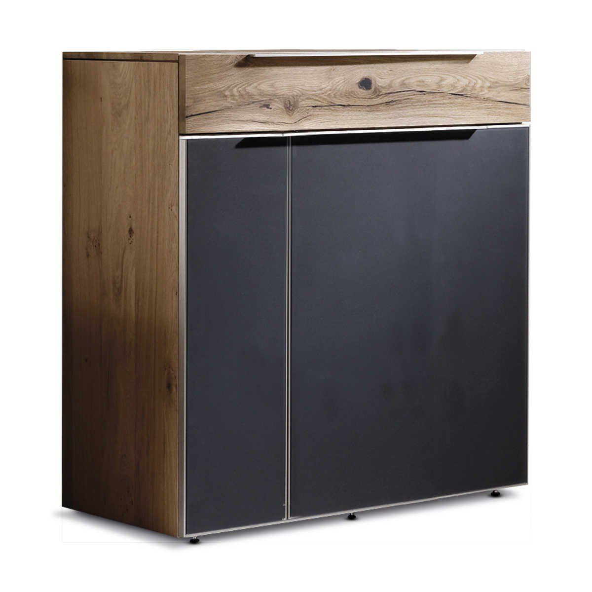 voglauer kommode v alpin eiche holz glas online kaufen bei eiche holz eiche und kommode. Black Bedroom Furniture Sets. Home Design Ideas