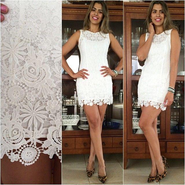 Vestidos de renda branco para festa