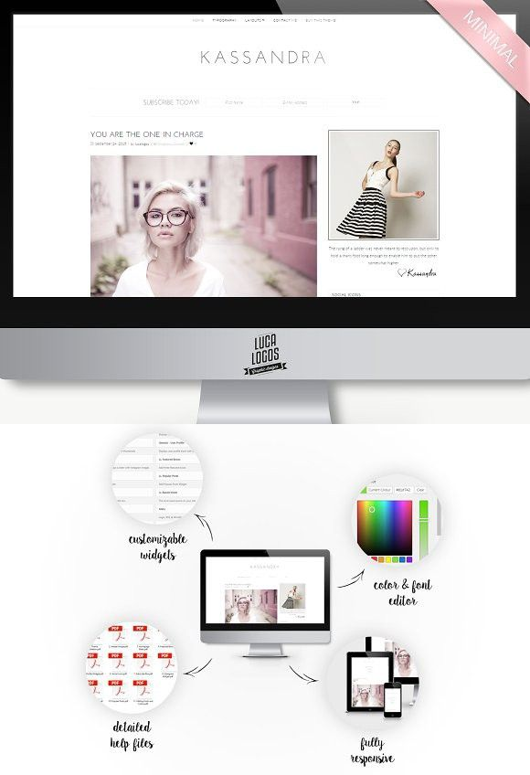 Kassandra - Minimal Wordpress Theme. Tumblr Themes | Tumblr Themes ...
