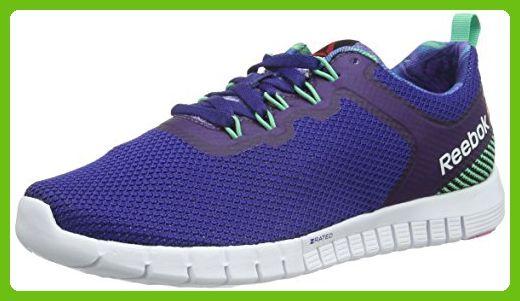 Reebok Women's Zquick Lite WS Running Shoes, Azul / Verde / Rosa (Night  Beacon