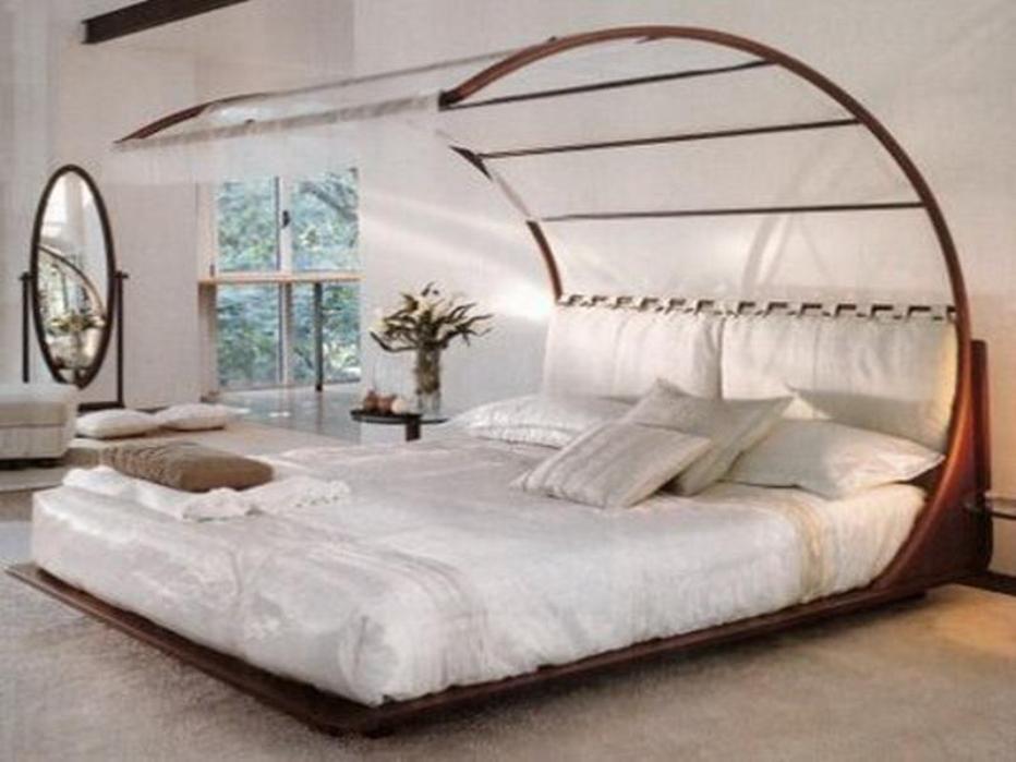 Canopy Bed Design Queen Frame Luxury Three Door