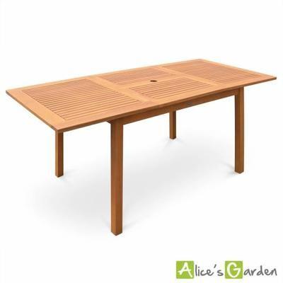 table de jardin en bois almeria 120 180cm rectangu meubles appartement pinterest. Black Bedroom Furniture Sets. Home Design Ideas