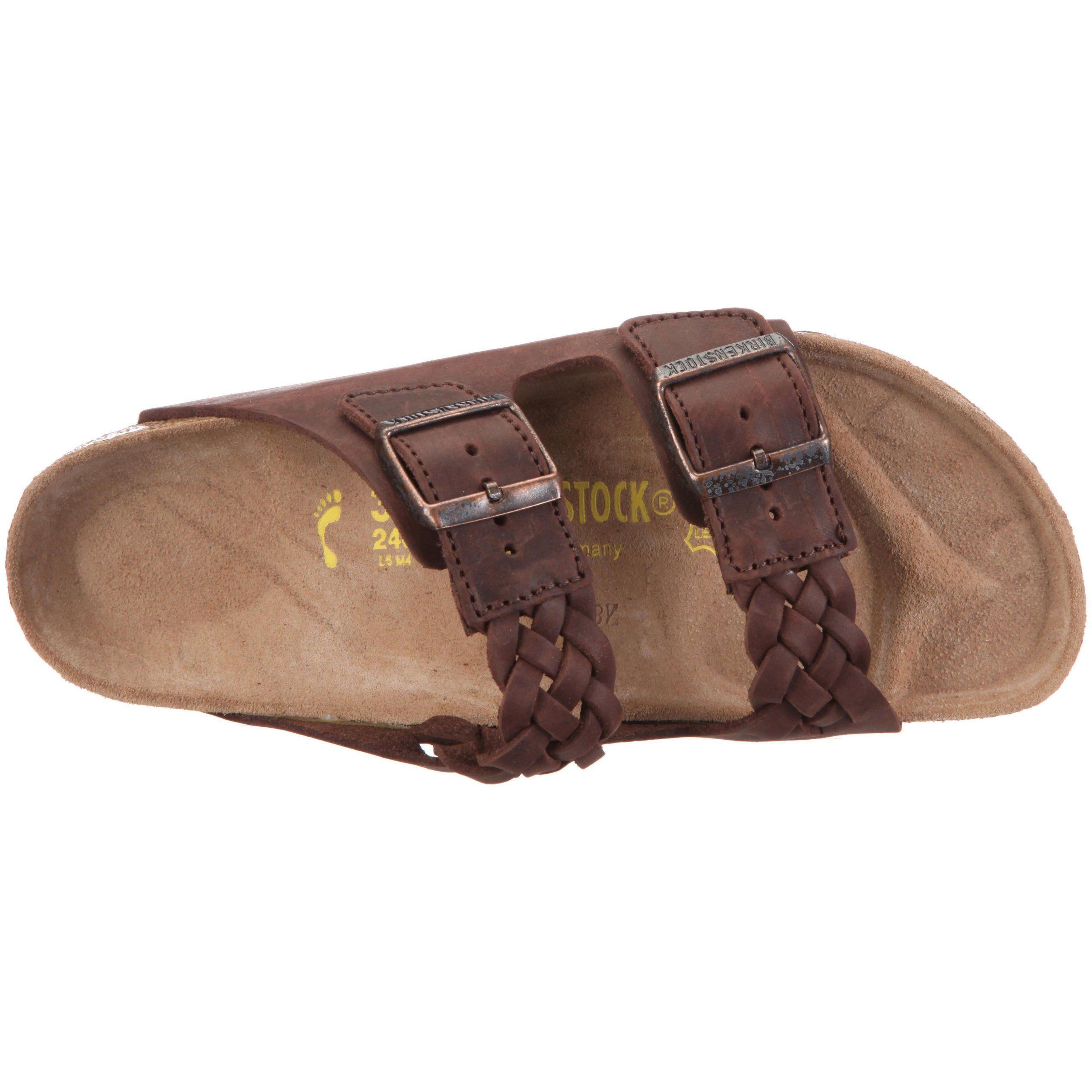 Tatami Zulia Waxy Leather Braided Tobacco Brown
